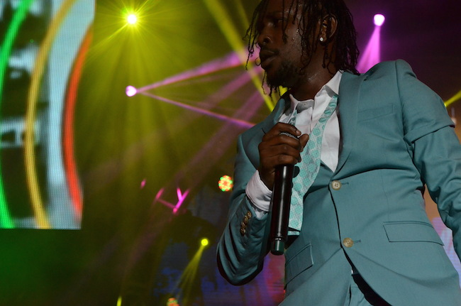 Popcaan on stage at Sumfest